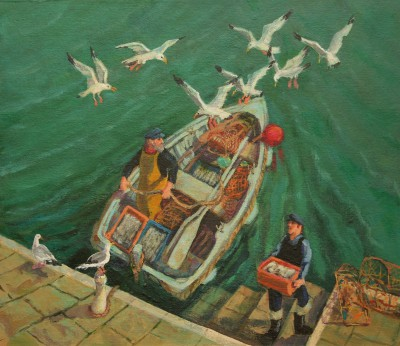 Vivienne LUXTON - Bringing in the Fish