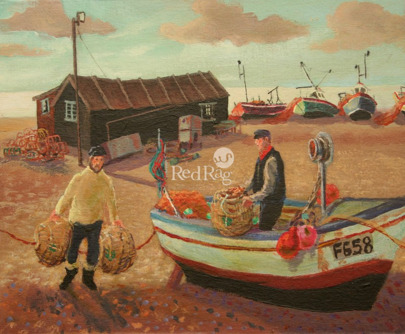 Vivienne LUXTON - Bringing in the Lobster Pots