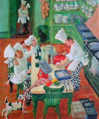 British Artist Vivienne LUXTON - The Cook. The Chef. The Thief and his Lover