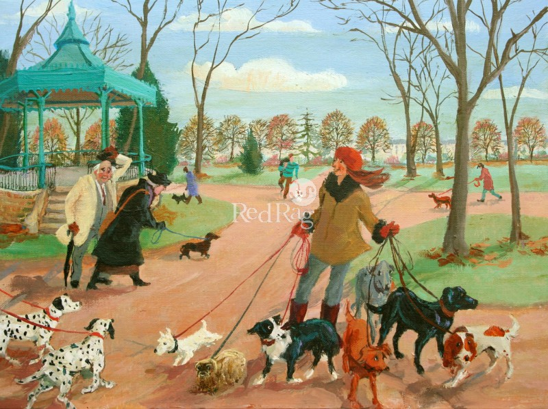 Vivienne LUXTON - The Dog Walkers