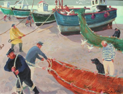 Vivienne LUXTON - Fishermen and their Nets