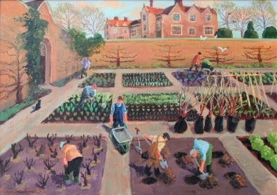 British Artist Vivienne LUXTON - The Walled Garden