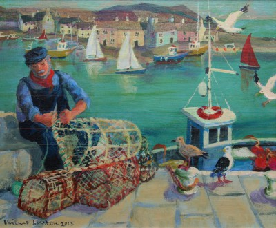Vivienne LUXTON - Mending the Lobster Pots