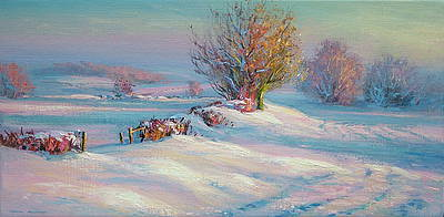 Winter Glow painting by artist Mark PRESTON