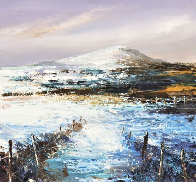 A Winter's Day, East Lomond painting by artist Amanda HOSKIN