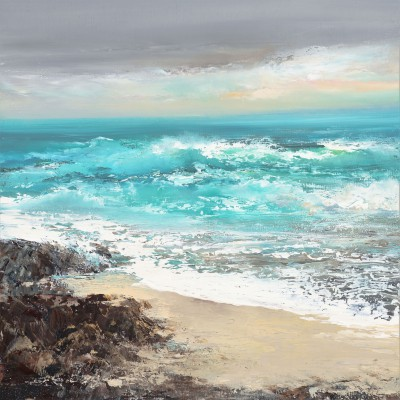 Amanda HOSKIN - A Turquoise Tide at Talland Bay, Cornwall