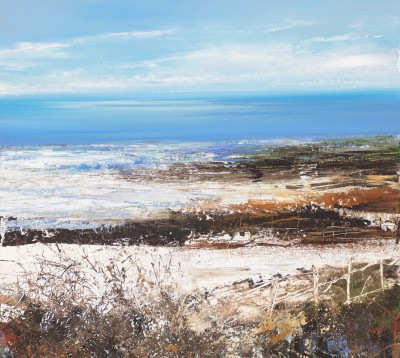 Winter Fields Zennor (near St Ives) painting by artist Amanda HOSKIN