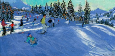 Limited Edition Prints Artist Andrew Macara - On The Slopes