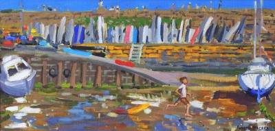 British Artist Andrew MACARA  - New Quay Harbour, Wales