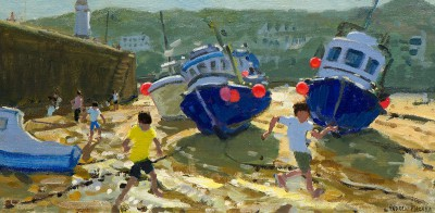 Limited Edition Prints Artist Andrew Macara - Kids and Boats
