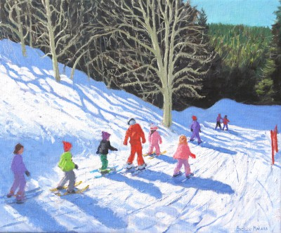 Limited Edition Prints Artist Andrew Macara - Ski School