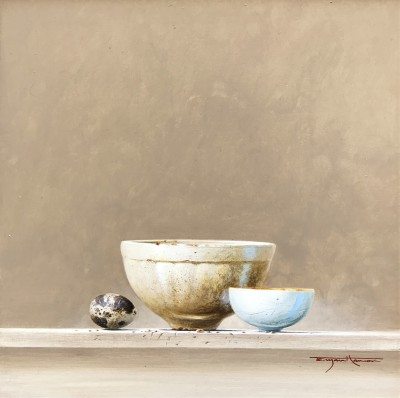 British Artist Bryan HANLON - Jelly Mould and Quail's Egg