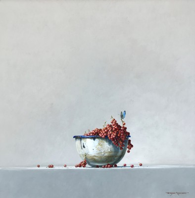 British Artist Bryan HANLON - Enamel Bowl and Currants