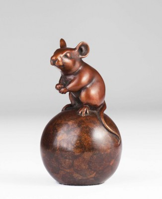 Sculpture and Sculptors Artist Carl LONGWORTH - Mouse (Edition 102/175)