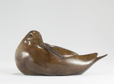 Sculpture and Sculptors Artist Carl LONGWORTH - Woodcock Preening (Edition 2/25)