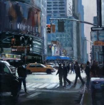 David FARREN - Crossing 42nd Street,New York