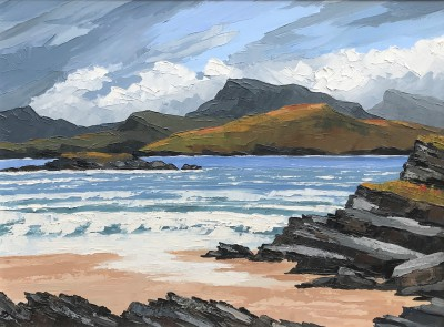The Sea Inlet on the West Coast painting by artist David BARNES