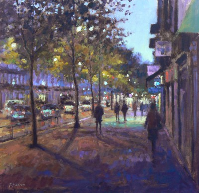 David FARREN - Dawn, Boulevard St Michel, Paris