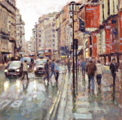British Artist David FARREN - Outside the Royal Academy