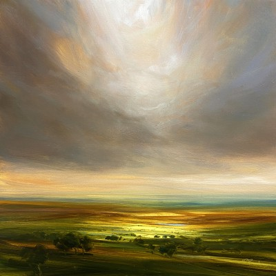 Warm September Sun painting by artist Harry BRIOCHE