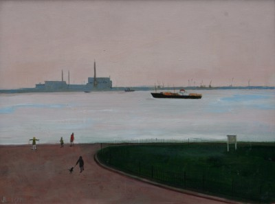 British Artist Janet LEDGER - Promenade at Gravesend