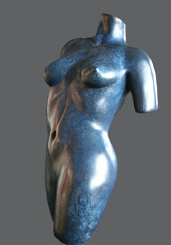 Sculpture and Sculptors Artist Jeff CHILDS - Blue Torso - edition 3/36