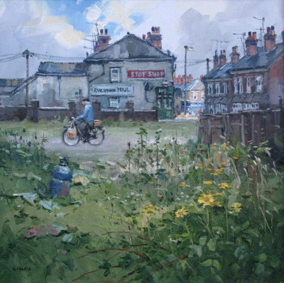One Stop Shopper painting by artist John LINES