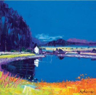 Limited Edition Prints Artist John Lowrie Morrison (Jolomo) - Dunardry Reflections Crinan Canal