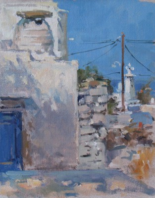 British Artist John MARTIN - Afternoon Shadows, Sifnos