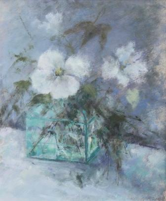 British Artist Judith GARDNER  RBA - White Flowers, Grey Light
