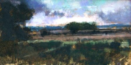 British Artist Judith GARDNER  RBA - Summer Landscape, Evening
