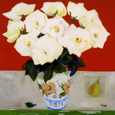 Limited Edition Prints Artist Liz Knox - Roses on Red