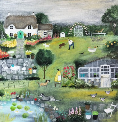 British Artist Louise RAWLINGS - Midsummer in the Garden