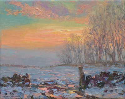 Winter Glow, Alsop painting by artist Mark PRESTON
