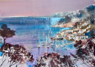 British Artist Nagib KARSAN - View Across The Harbour