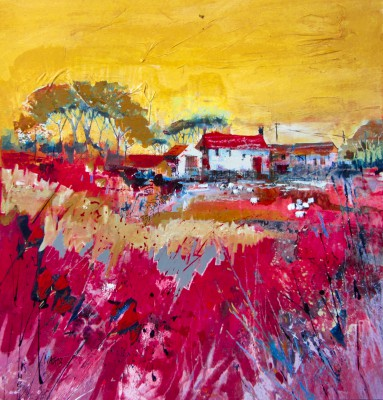 British Artist Nagib KARSAN - Somerset Farmhouse II