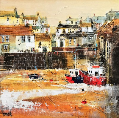 British Artist Nagib KARSAN - Autumn Colours, Polperro
