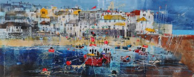 British Artist Nagib KARSAN - St Ives Beach and Harbour