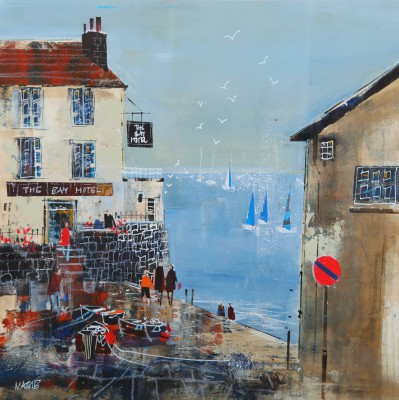 British Artist Nagib KARSAN - Enjoying the View, Robin Hoods Bay