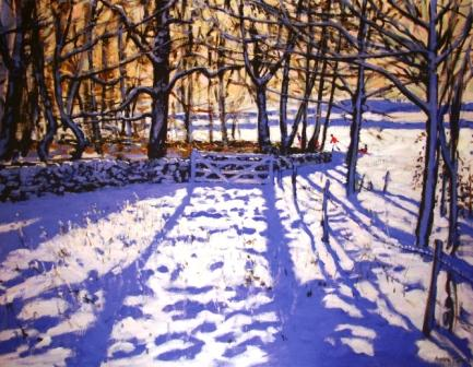 Limited Edition Prints Artist Andrew Macara - The Gate, Winters Day