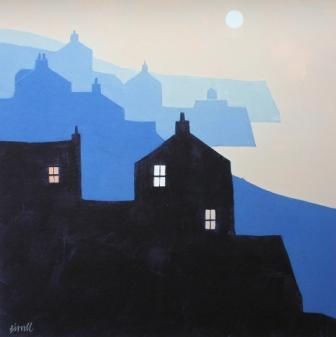 Limited Edition Prints Artist George Birrell - Headlands and Moon