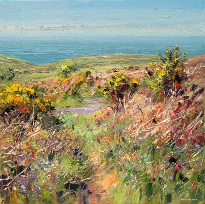 Rex PRESTON - Clear Spring Afternoon, Trevelgan Hill, Cornwall
