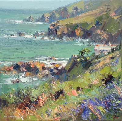 Rex PRESTON - Coastal Cottage, Treen Cove, Cornwall
