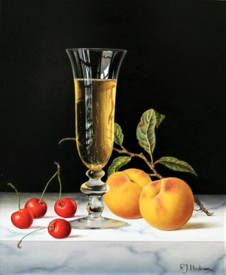 Roy HODRIEN - Champagne with Cherries and Peaches