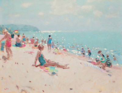 Bathers painting by artist Stephen BROWN RBA