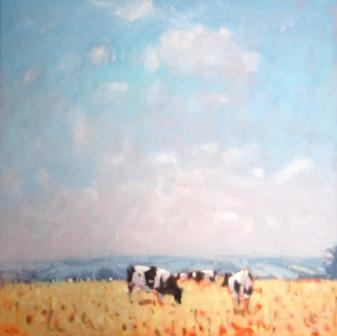 Stephen BROWN RBA - Cows near Membury