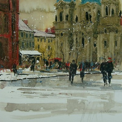 Limited Edition Prints Artist Susan Brown - February, Prague