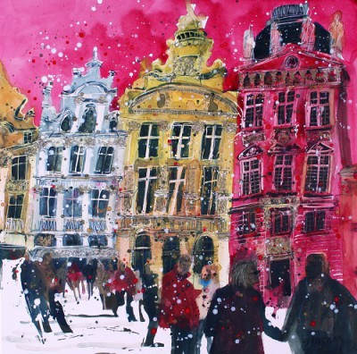 Limited Edition Prints Artist Susan Brown - Brussels Theatrical Centrepiece