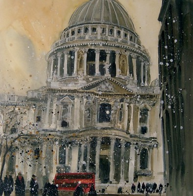 Limited Edition Prints Artist Susan Brown - South Porch, St. Pauls