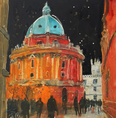 Limited Edition Prints Artist Susan Brown - Evening, Radcliffe Camera, Oxford